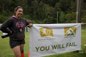 Michelle Bonomi, the first ever female finisher