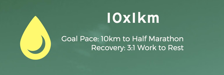 Marathon Workout - 1000m Intervals