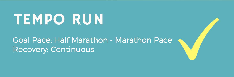 Marathon Workout - Tempo Run